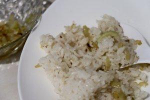 Celery con arroz blanco